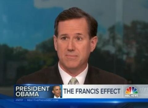 News video: Rick Santorum Excited By Pope Francis