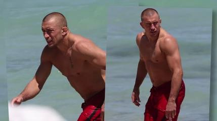 News video: Georges St-Pierre Takes His Torn ACL to the Beach
